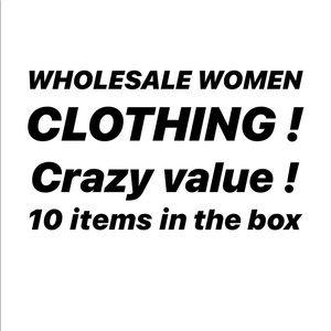 LOT WHOLESALE WOMEN CLOTHING MYSTERY BOX